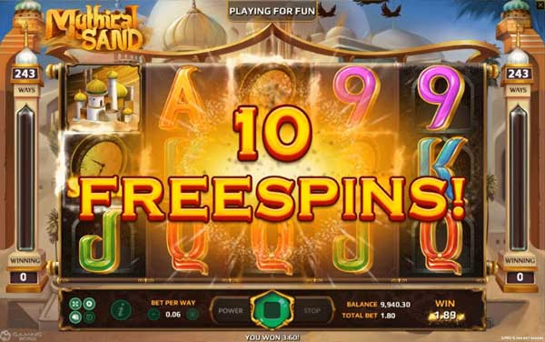 Mythical-Sand Freespins
