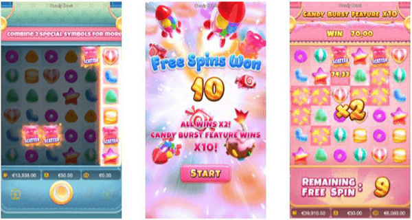 Candy Burst Feature free spins